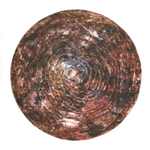 Red earth circle original limited edition print