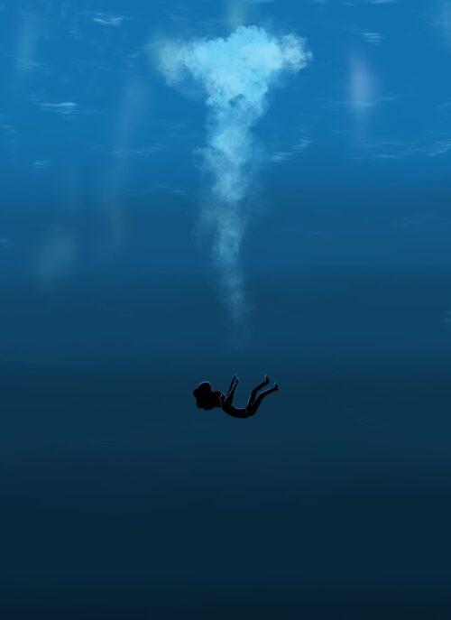 Isolation blue original poster
