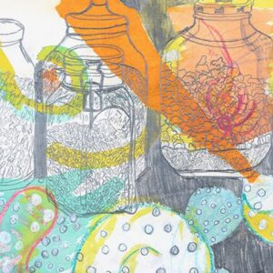 Kitchen Jars 1 mental wellbeing colourful print