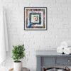 worlds 1 30x30cm framed