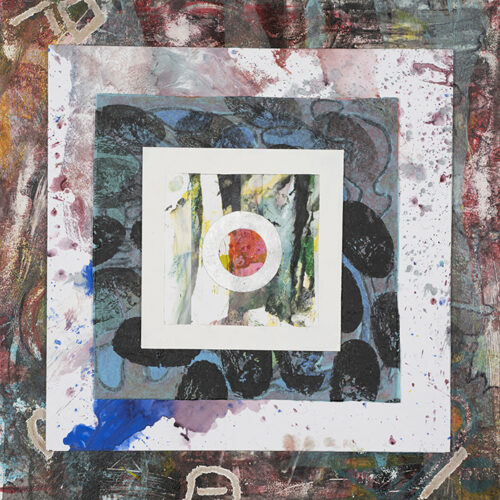 Limited edition print collage abstract artist