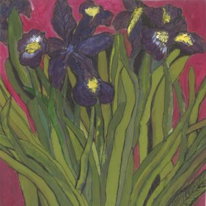 blue irises wellbeing print