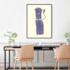 purple basson kids print