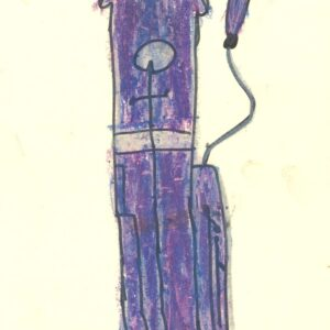 purple basson kids coloured drawing