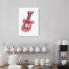 red guitar kids print